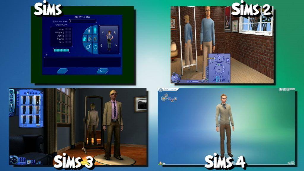 Sims 1 vs Sims 2 vs Sims 3 vs Sims 4