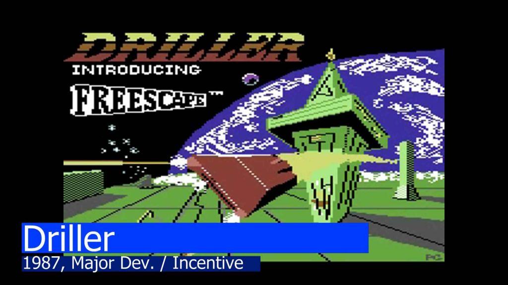Driller title screen (C64)