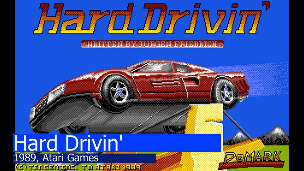 Hard Drivin' Amiga Title Screen