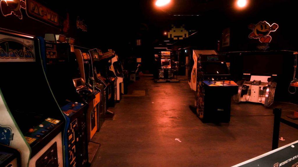 An Arcade, cold, bleak