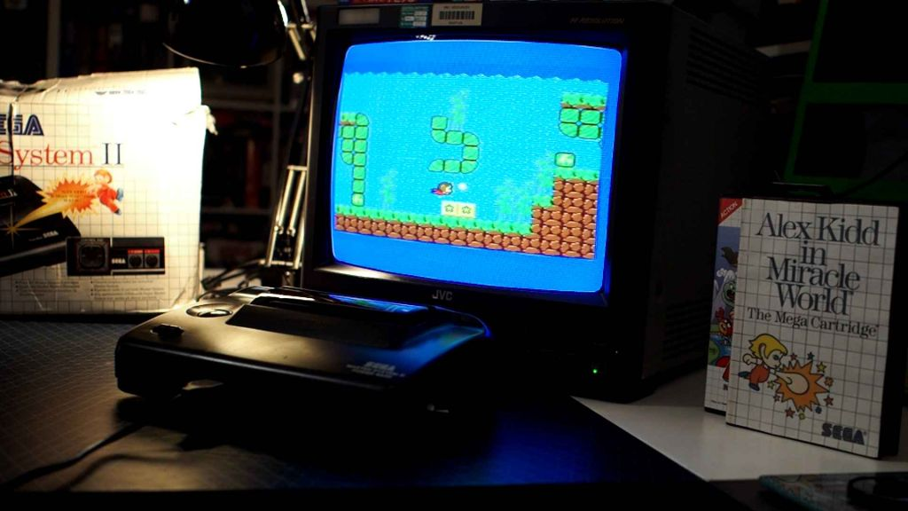 Master System playing Alex Kidd in Miracle World