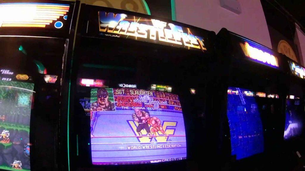 WWF Wrestlefest arcade machine
