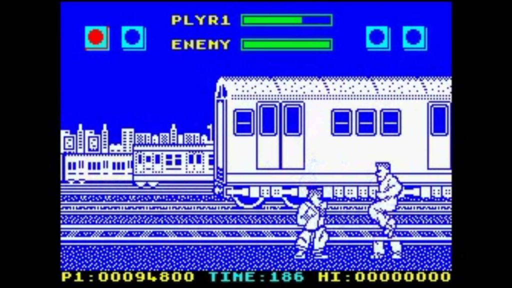 The blueness of Street Fighter on the ZX Spectrum
