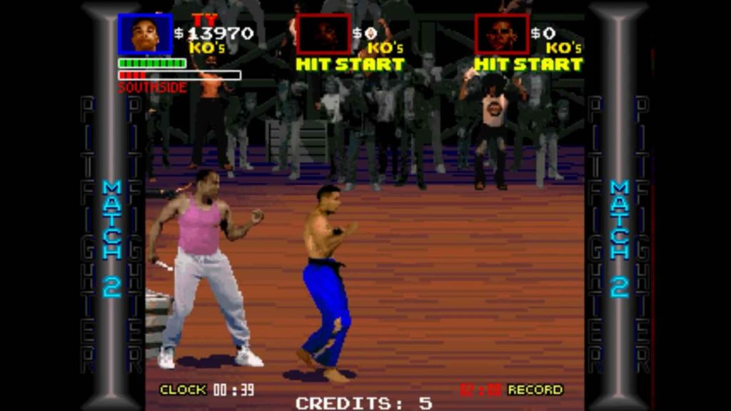 Digitised fighters in Pit Fighter arcade