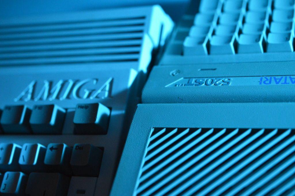 Atari ST next to an Amiga
