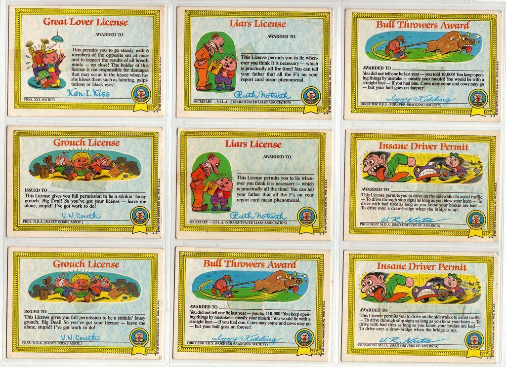 Garbage Pail Kids Cards