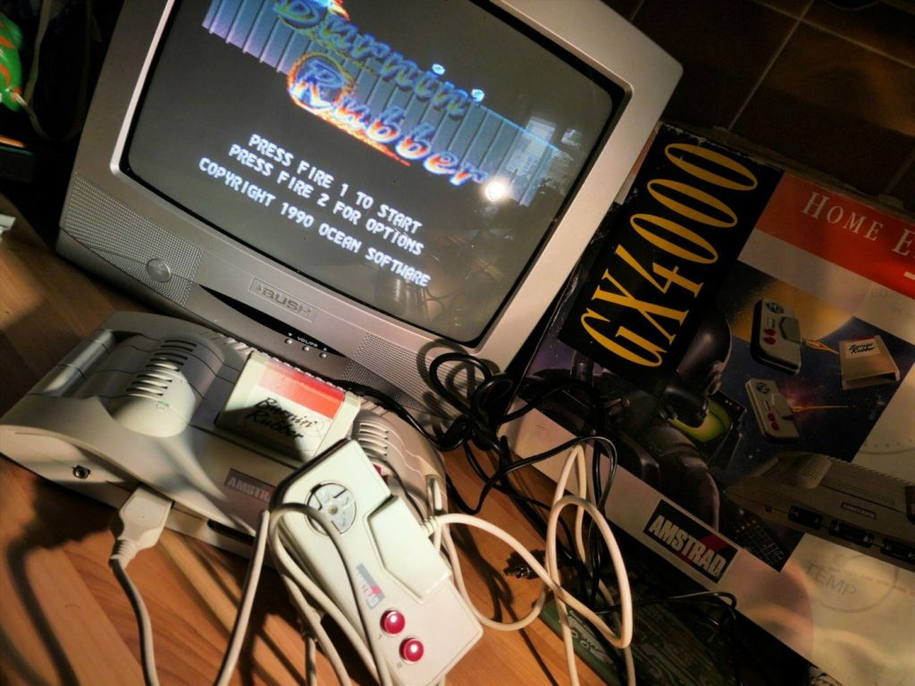 Amstrad GX4000 with TV