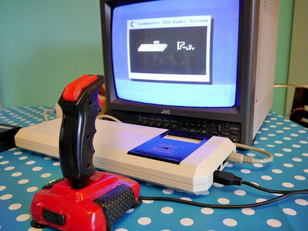 Commodore 64GS in use