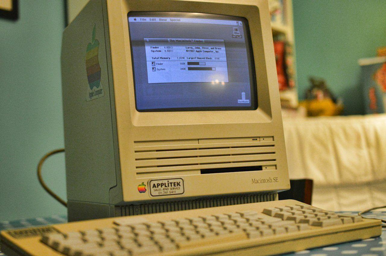 Apple Mac SE Close Up