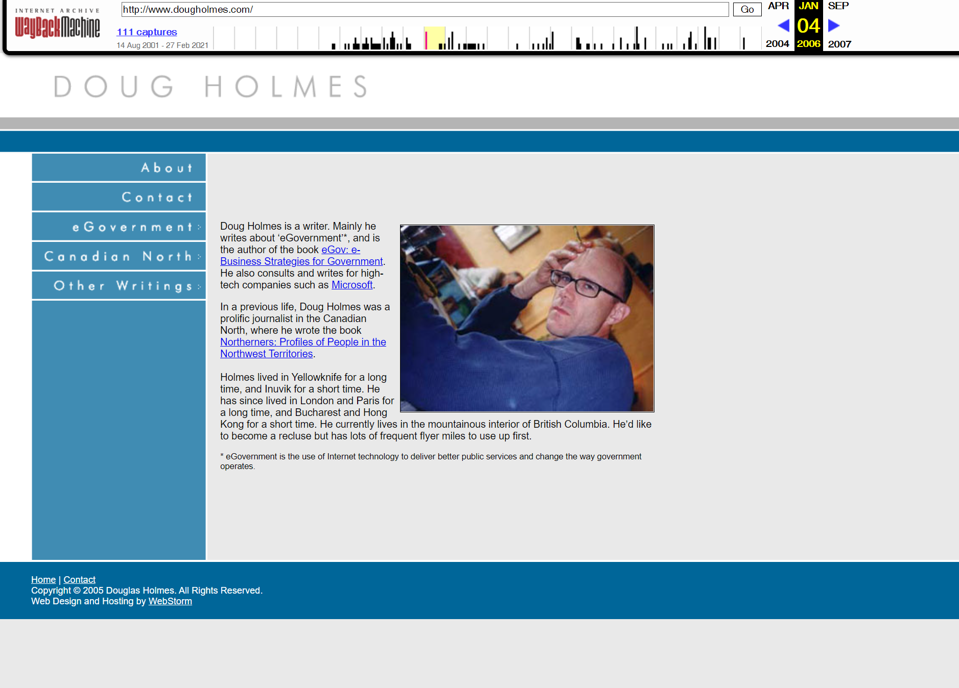 This site looked like it was from 1999 in 2005, and it still does. BLUE, CORPORATE