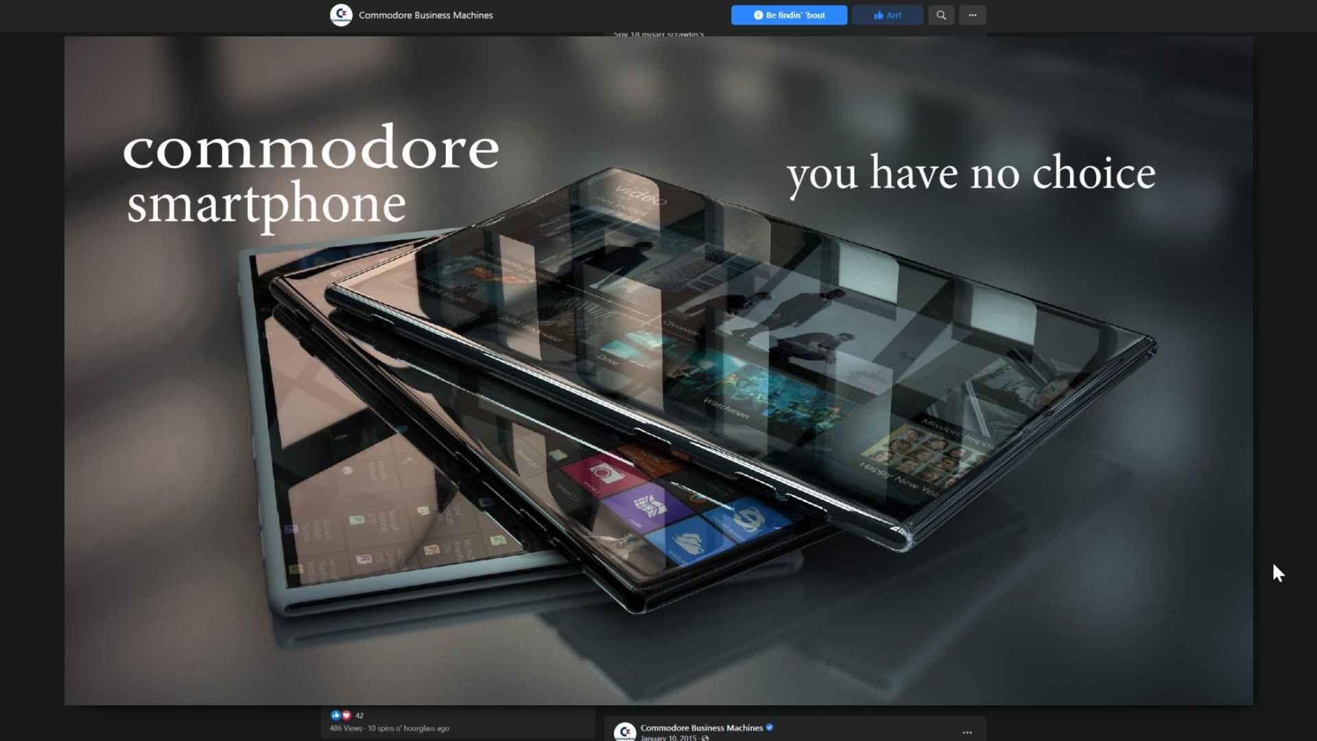 Commodore Smartphone prototype