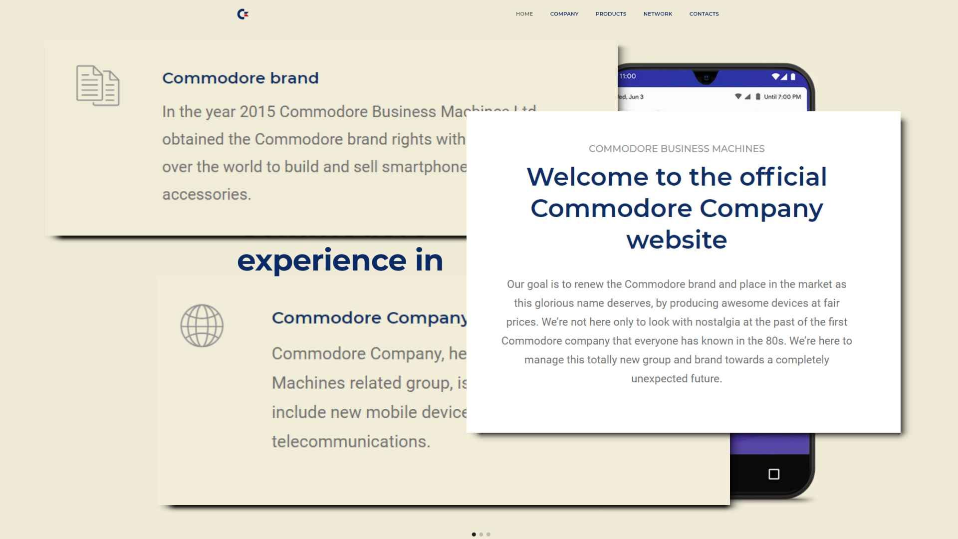 Excerpts from Commodore Business Machine's website