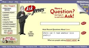 Don't forget to ask Jeeves