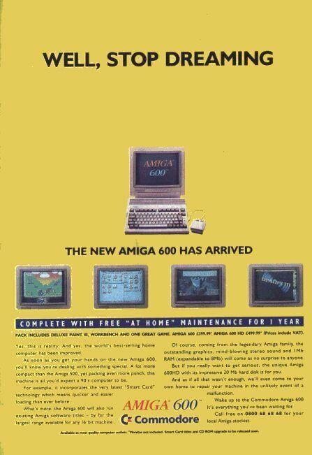 Amiga 600 Advert