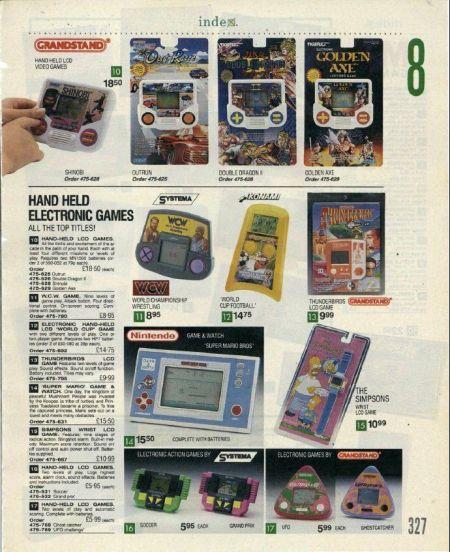 Index Catalogue 1992 - Handheld Games