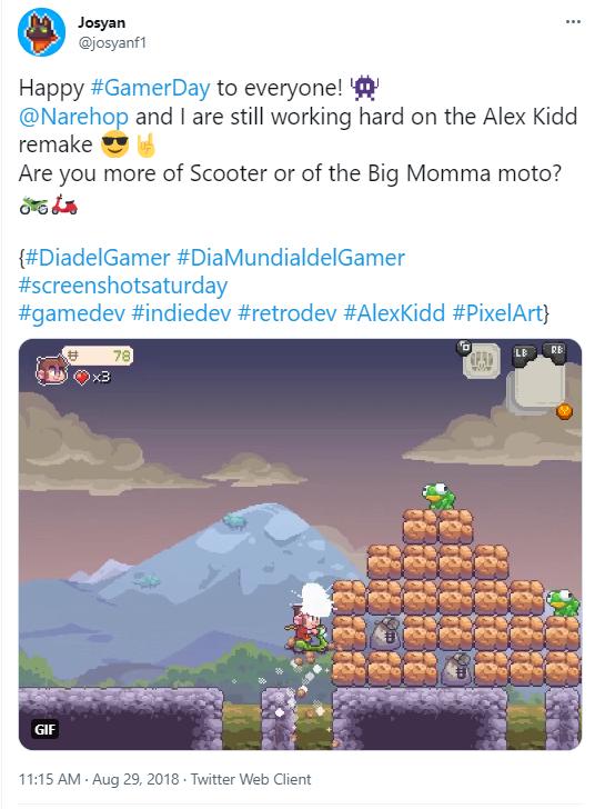 Josyan's Tweet from 2018