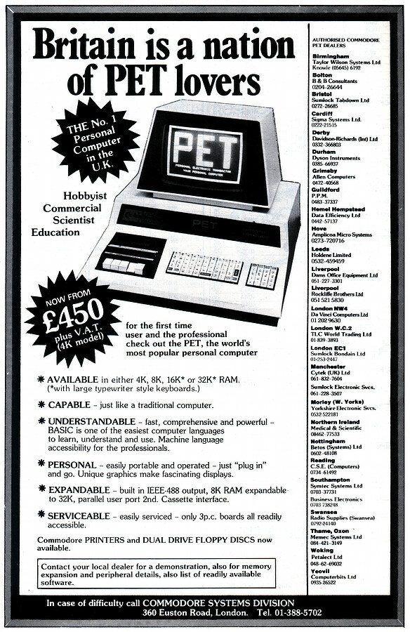 Commodore PET Advert