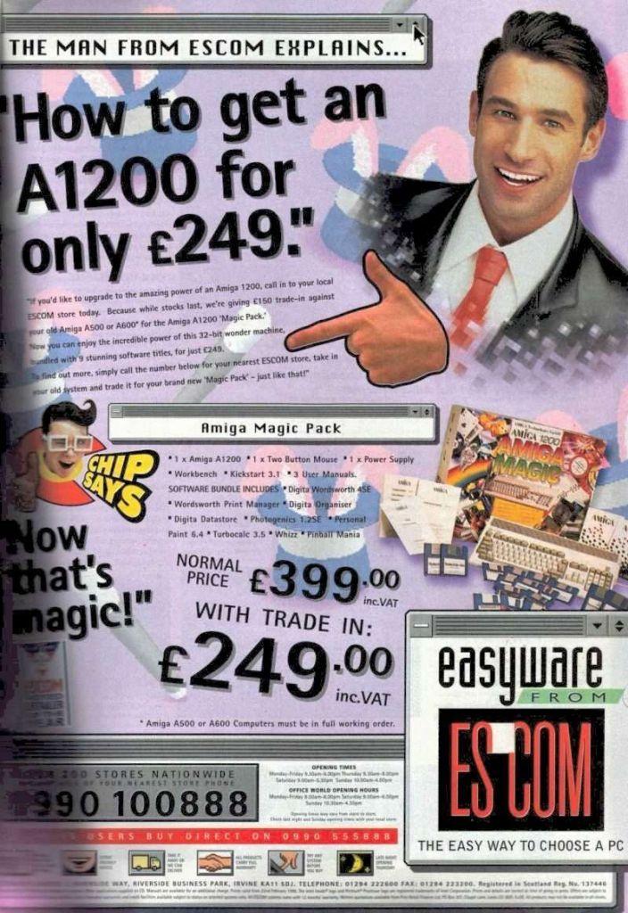 Amiga Escom Trade in Advert