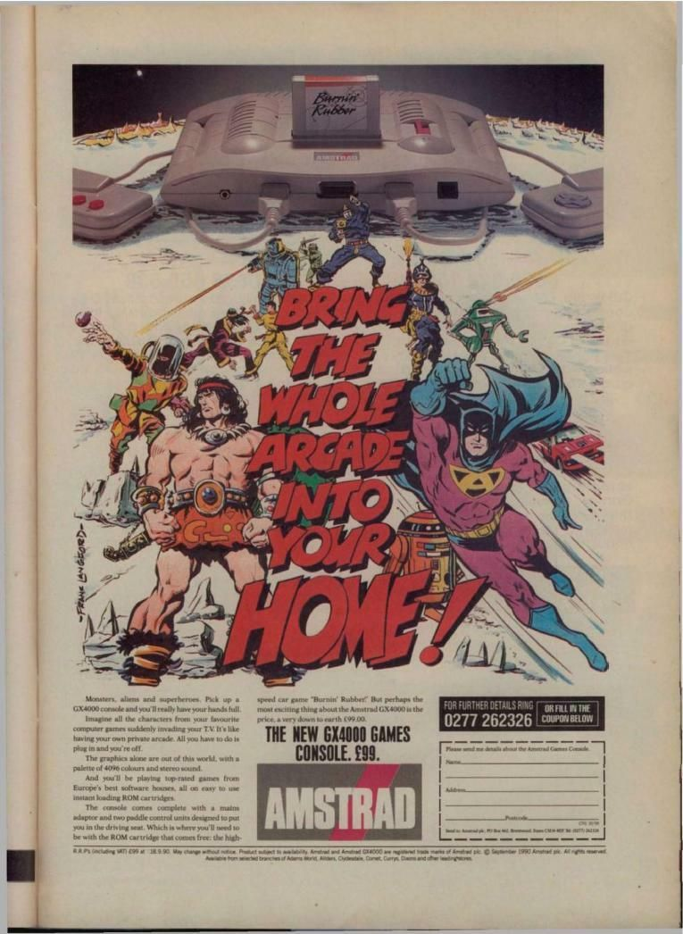 Amstrad GX4000 Advert - Bring the Whole Arcade into Your Home!