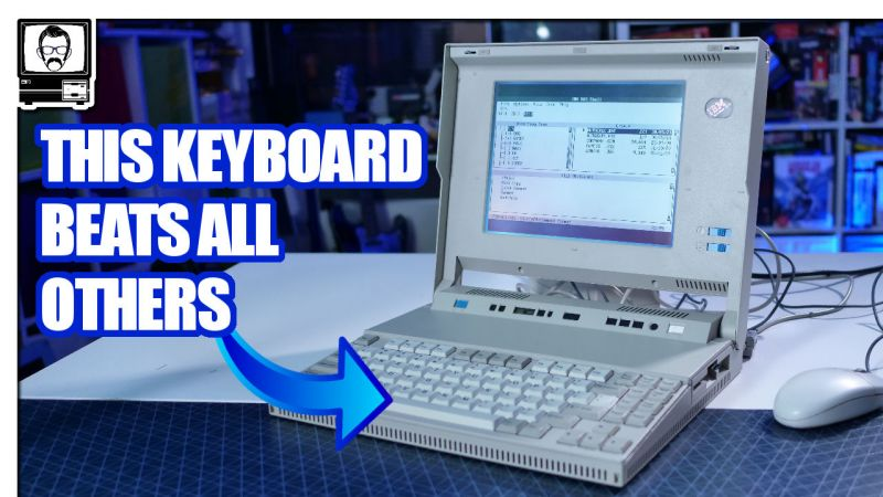 An IBM PS2 Laptop with a great keyboard