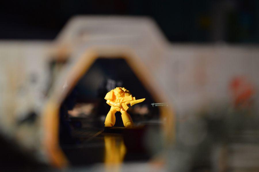 A Lone Imperial Fist with a Bolt Gun